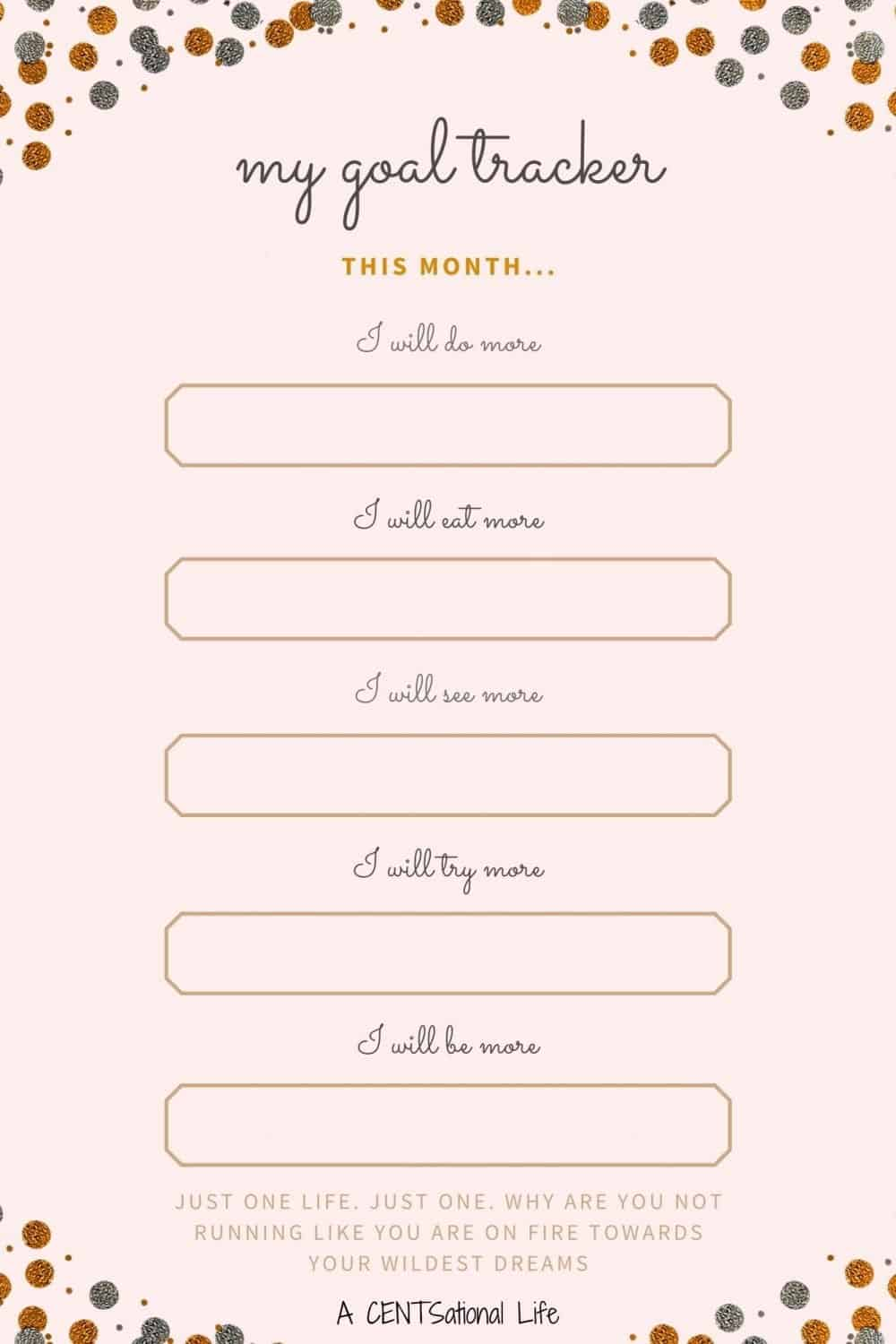 Monthly Goal Tracker