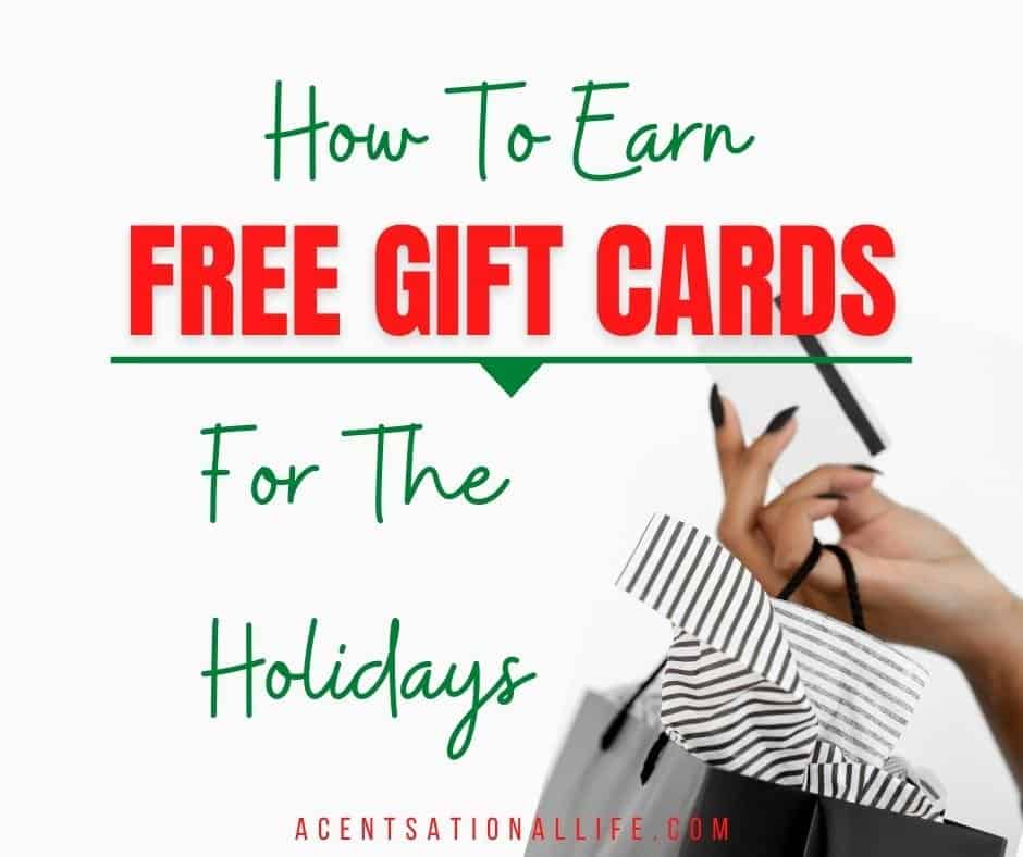 Earn Free Gift Cards For Christmas