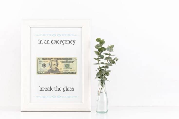 """In Case Of An Emergency"" Money Gift"