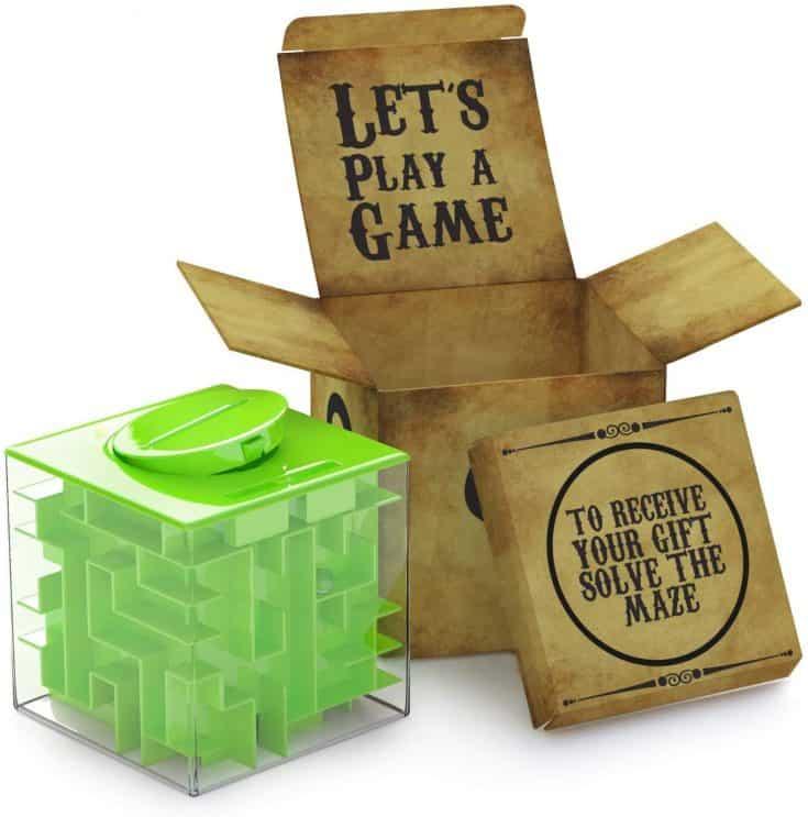 Maze Cube Money Holder