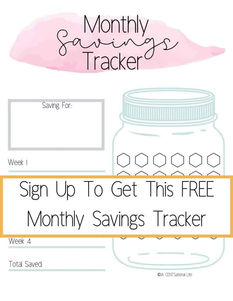 FREE Money Hacks Savings Tracker