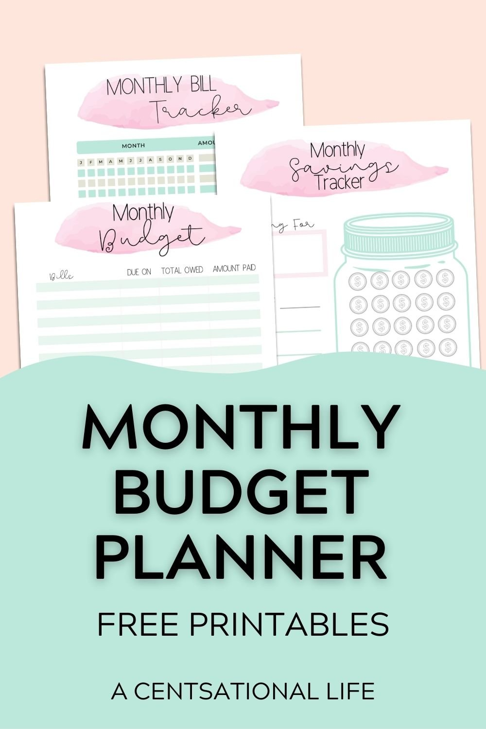 montly budget planner printable